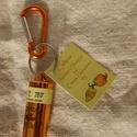 Chiliporos kulcstartó - Narancs skorpió és citrom habanero