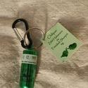 Chiliporos kulcstartó - Zöld Habanero és Trinidadi Skorpió 4g, Fém kapszulás, 4g extra erős zöld chilipor (4g...